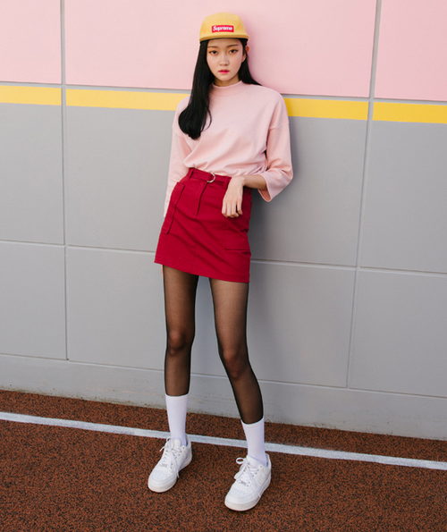 Mini Skirt With D-Ring Belt