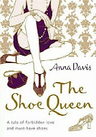Hardback book cover of The Shoe Queen by Anna Davis