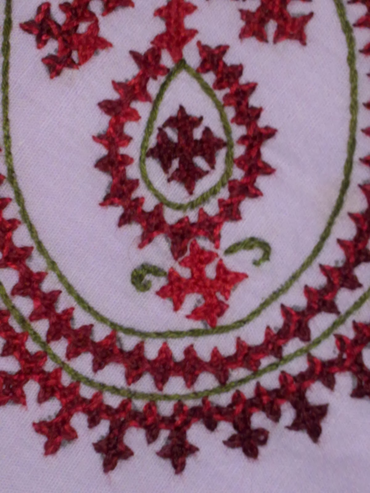 Arttycraft By Indu Hand Embroidered Napkin With  Kutch