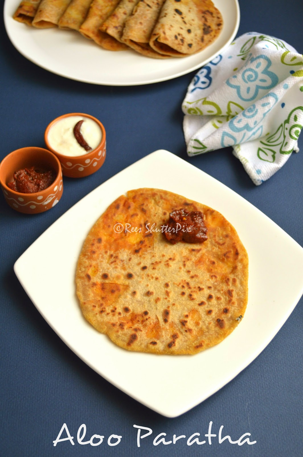 Easy aloo paratha recipe without stuffing
