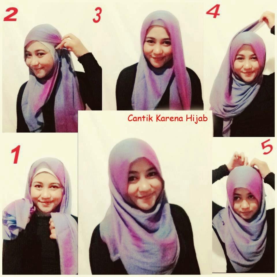 Aneka cara pakai jilbab pasmina terbaru
