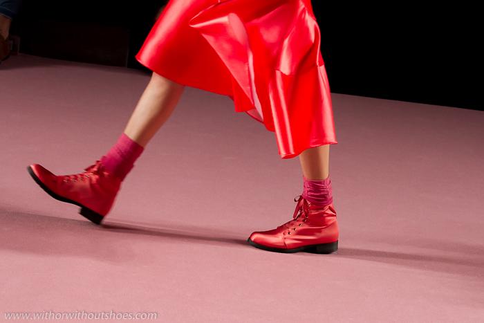 zapatos diseñados por Juan Vidal para su desfile Aurora MBFWM