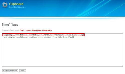 Прямая ссылка на загруженный файл в сервисе Fileden.com