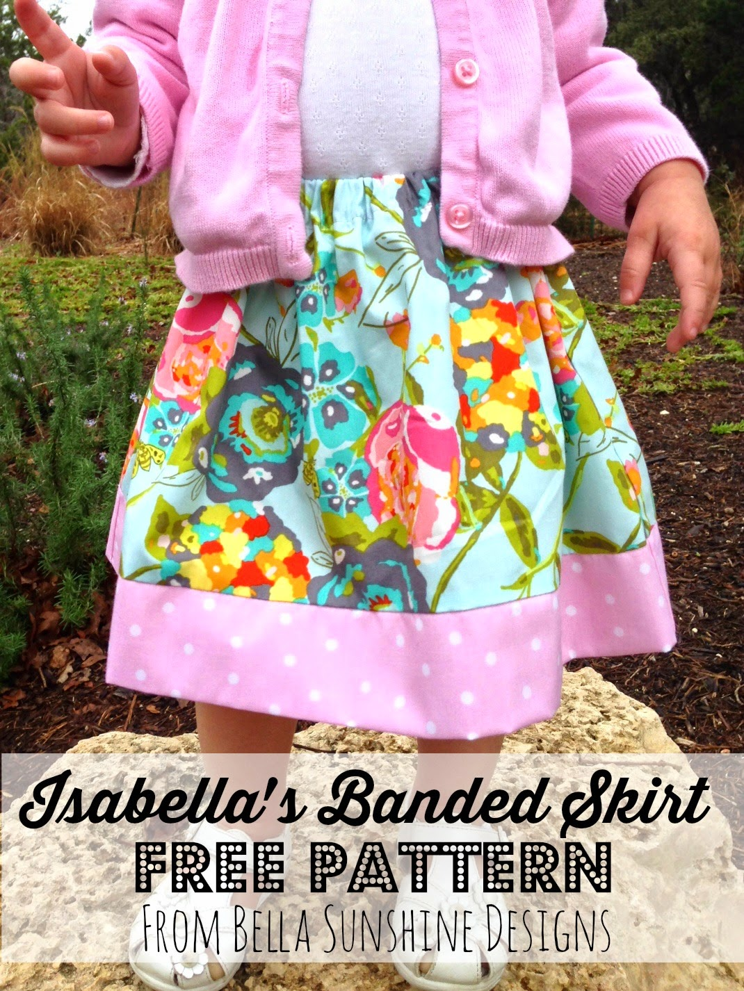 Huckleberry Love: Isabella\'s Banded Skirt Pattern Test {FREE pattern}