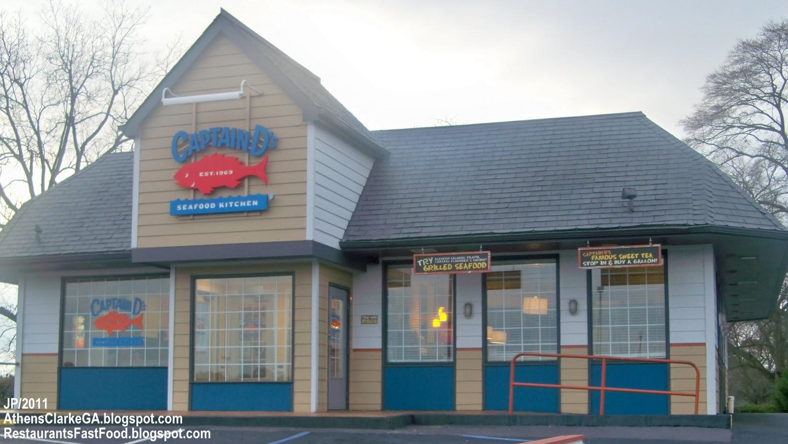 Captain D S Seafood Athens Georgia Atlanta Highway Restaurant Ga Fish Shrimp Clams Crab