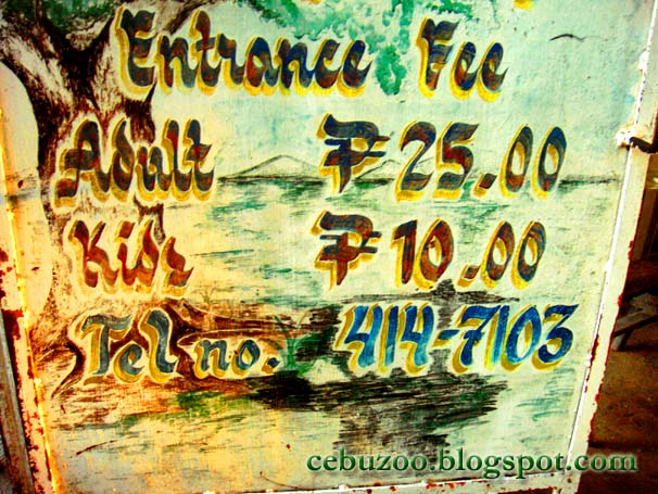 Cebu Zoo Entrance Fee