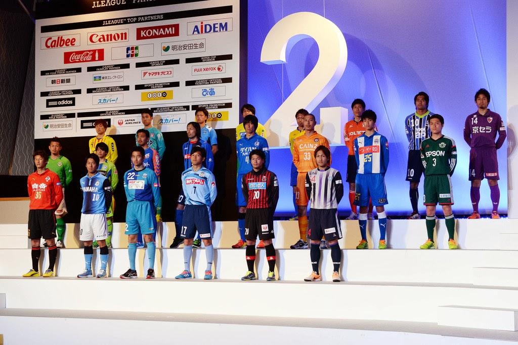 Para Pemain dari 22 Klub Peserta J2 J.League Musim 2014