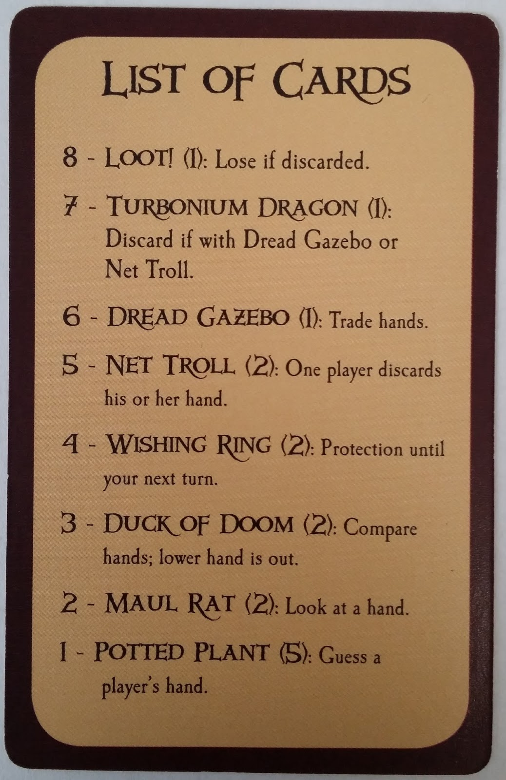 The Tabletop Life Munchkin Loot Letter