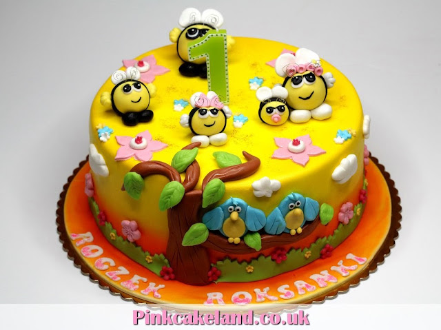 The Hive Birthday 1st Children's Birthday Cake, London