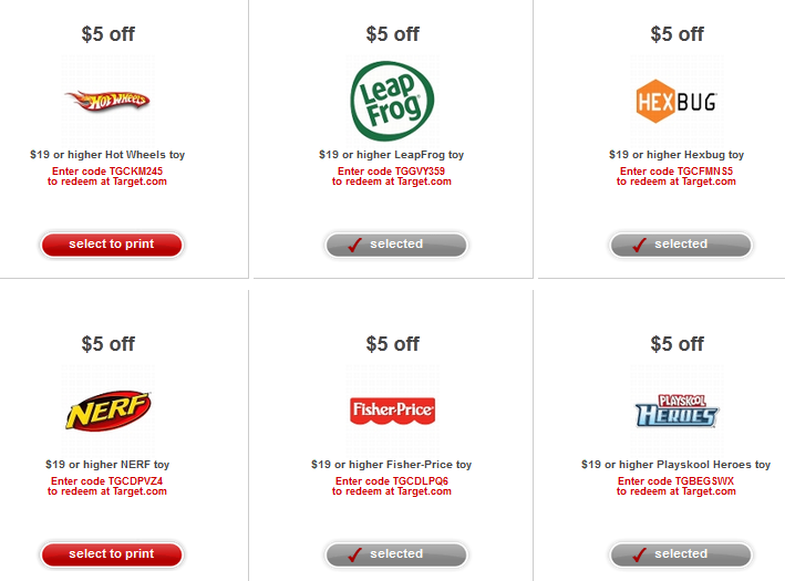 Target coupon codes online