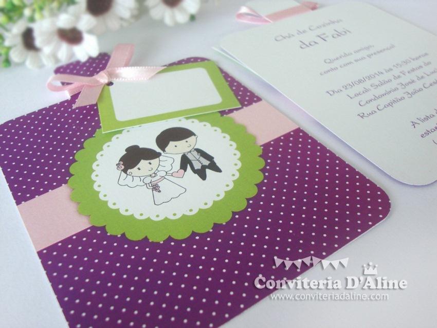 convite cha de cozinha lilas