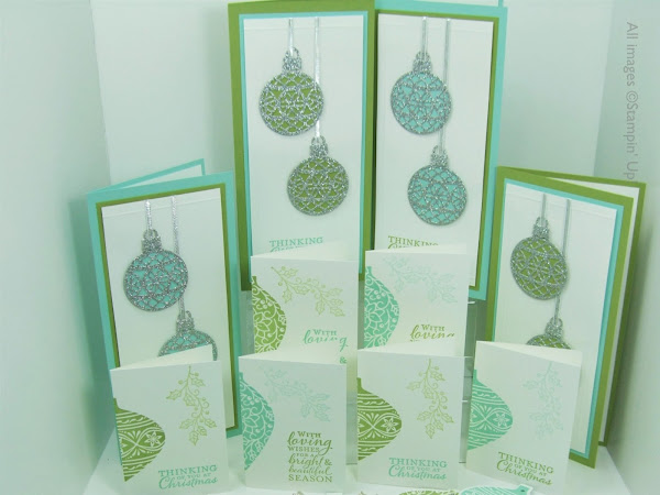 Round Up -  Embellished Ornaments Series - Box of Cards, Gift Cards & Tags