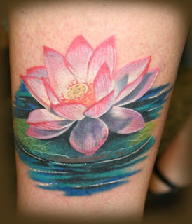 Lotus flower foot tattoos