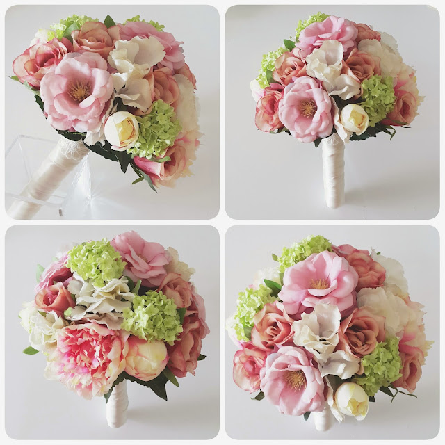 a vintage mix of roses, camellia, hydrangea and peonies