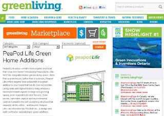 PeaPod Life - Green Home Additions, Green Living Guide Toronto, screenshot by wobuilt.com