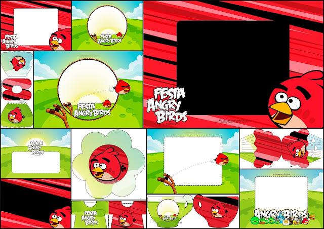 Angry Birds: Invitaciones para Imprimir Gratis.