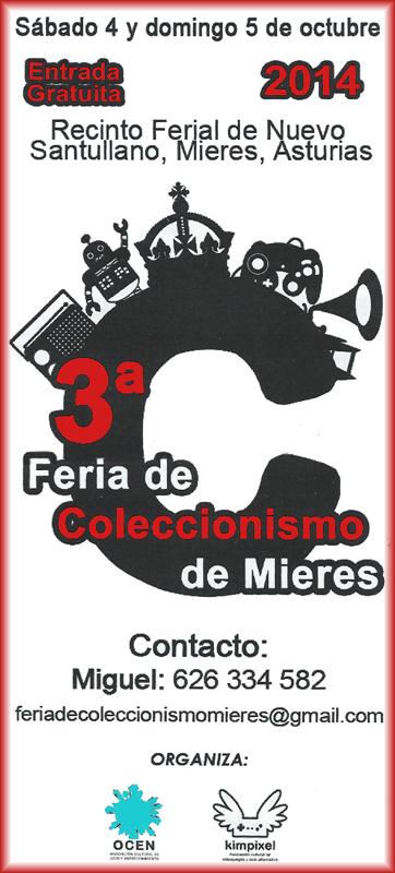 Cartel Feria del coleccionismo de Mieres