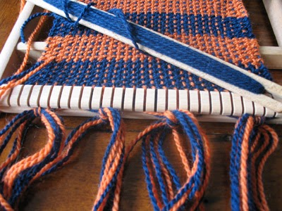 Weaving on a basic loom
