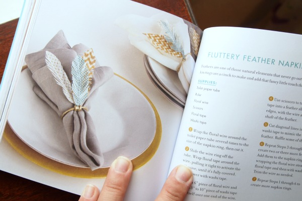 Fluttery feather napkin rings via Washi Tape Crafts by Amy Anderson
