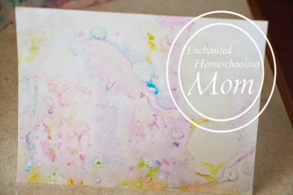 Kid Made Marbled Cards - Enchanted Homeschooling Mom