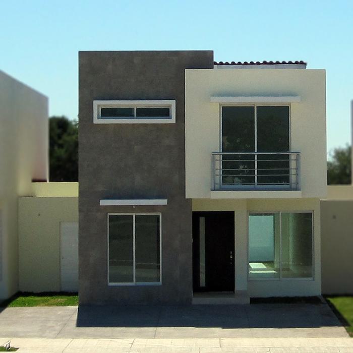 Fachadas contempor neas fachadas contempor neas modelo b2 for Fachadas de ventanas para casas modernas