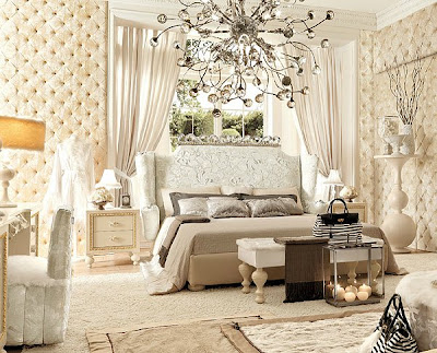 Black Bedroom Vanity on Soft Romantic Style With Tufted Furnishings In Creams And Whites
