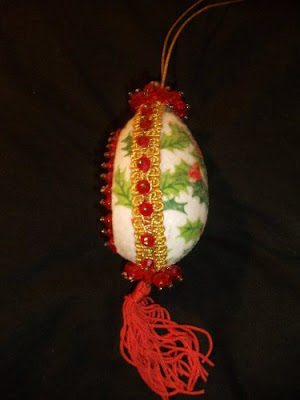 Styrofoam egg ornaments 3