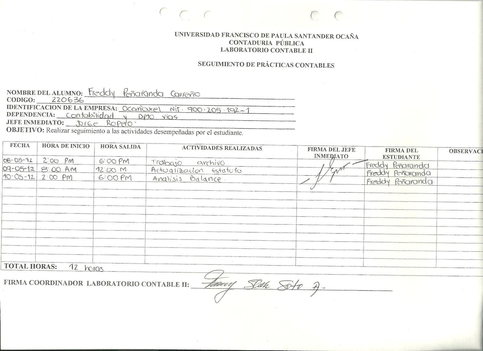 EXPERIENCIAS DE LABORATORIO CONTABLE II: agosto 2012