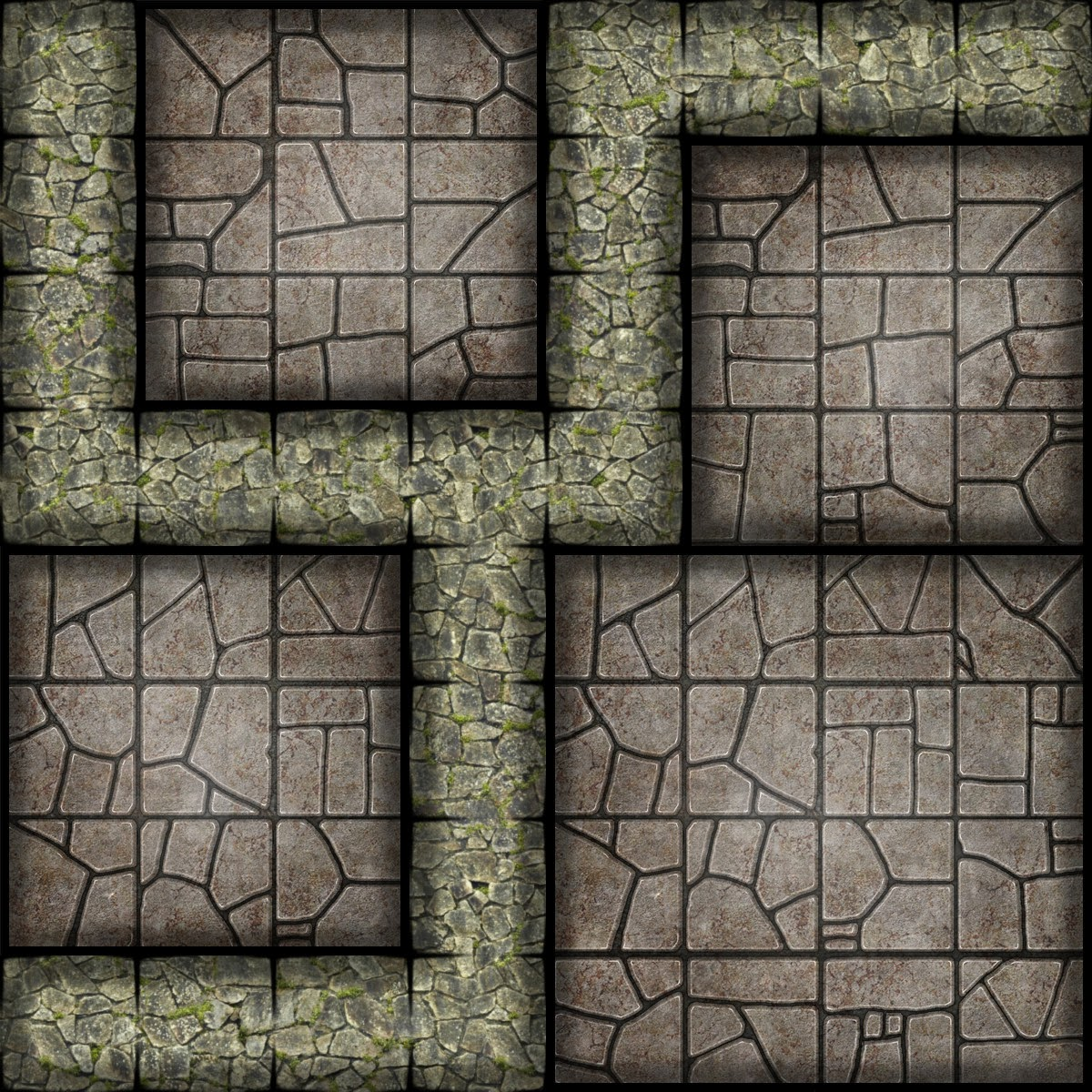 Monster image within free printable dungeon tiles
