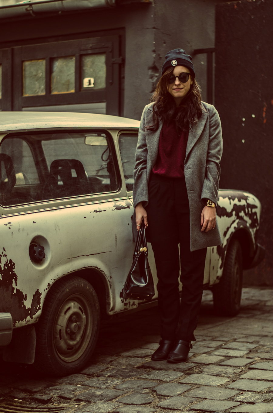 brylove, cat eye, coat, fashion, letthemwear, moda, outfit, płaszcz, retro, sunglasses, vintage, Zara,
