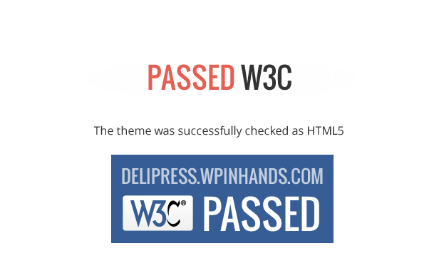 Passed W3C - Delipress - Magazine and Review WordPress Theme