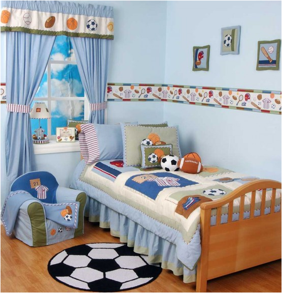 Young boys sports bedroom themes room design inspirations for Boys sports bedroom ideas