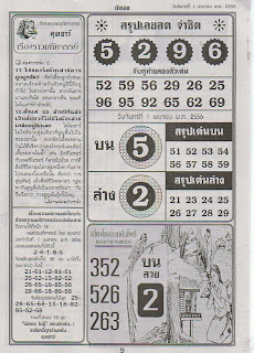 THAI LOTTO GUESS PAPER 1 APRIL, 2013 DRAW THAILAND DRAW GUESS PAPER