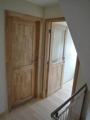 rubberwood deur met glas