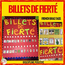 Billets de fierté et Signets souvenirs (French Brag Tags)