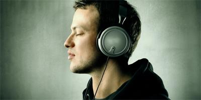 headphones music - Recipes for Fulfilled Living: WHISTLE OR HUM  - man listening