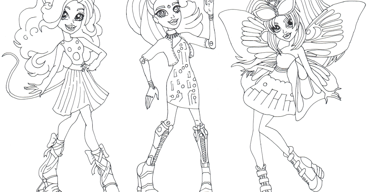 free printable monster high coloring pages gala ghoulfriends boo york monster high coloring page
