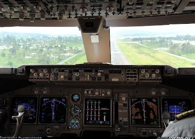 Simulando o voo BA0247: de Heathrow a Guarulhos no Boeing 747  Painel+principal