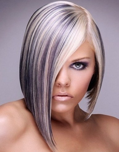 Platinum Blonde Hair with Purple Highlights 2014