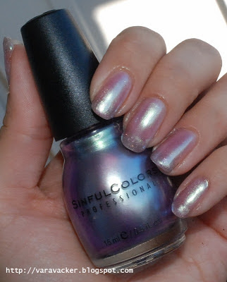 naglar, nails, nagellack, nail polish, sinful colors, lila, purple, sheer