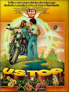 US Top. moda anos 70.  Os anos 70. propaganda anos 70; história da década de 70; reclames anos 70; brazil in the 70s; Oswaldo Hernandez