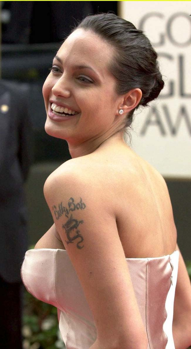 angelina jolie new tattoos designs images 2013 hollywood