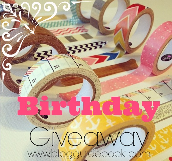 Blog Guidebook's awesome Birthday Bash Giveaway, ends 6/17. Enter now and win some cool washi, paper and stamps!