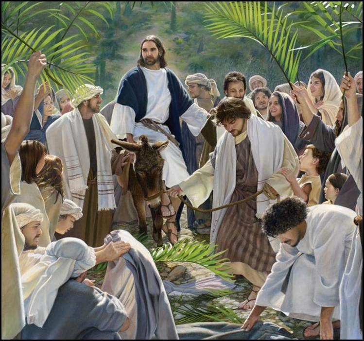 Resultado de imagem para Entrada de Jesus em Jerusalém