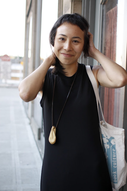 Megumi Shauna Arai Paramount Theater leather pouch necklace Seattle Street Style Fashion It's My Darlin'