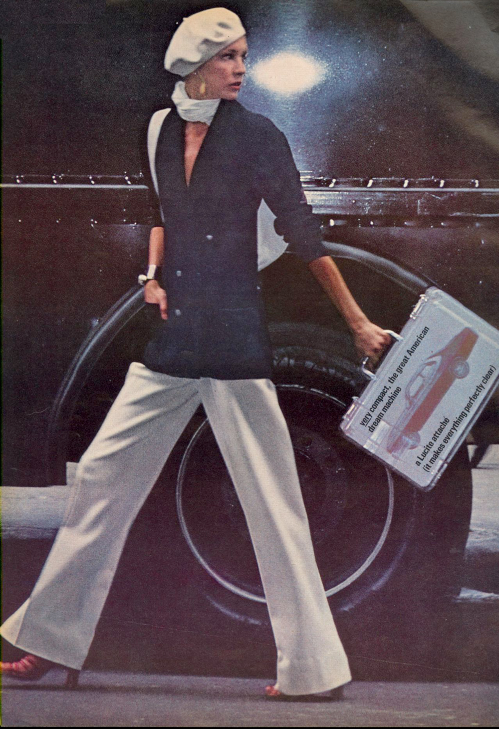 Classic navy and white outfit idea from Vogue June 1974 / 1970s style / via fashioned by love british fashion blog