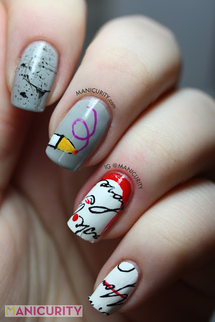 Manicurity | novel-inspired nail art featuring Sally Hansen Salon Effects Real Nail Polish Strips #410 Love Letter