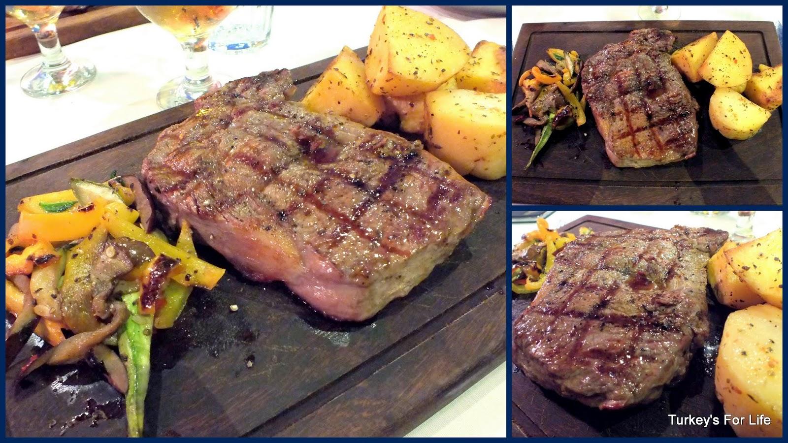 Rib Eye Steaks At Mancero Kitchen, Fethiye