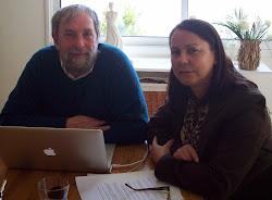 Con el Dr Robert Bellé en Roscoff, Francia: