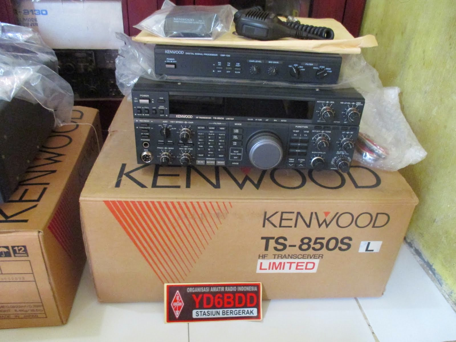 KENWOOD TS850S LIMITED EDITION s/n 6  DUSBOOK (Ts850SL+DSP100+SO2+RM1+ Full Optional)